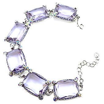 Butler and Wilson Light Amethyst Oblong Bracelet