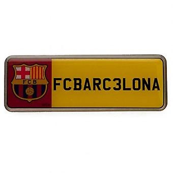 Barcelona Number Plate Badge