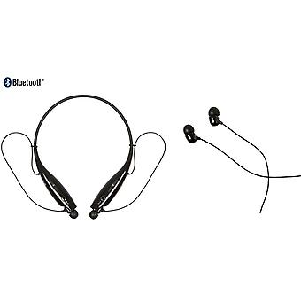 Behind-the-Neck Bluetooth Headset Speak - Black