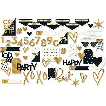 Yes, Please Mixed Bag Cardstock Die-Cuts 56/Pkg-W/Gold Foil Accents YES126