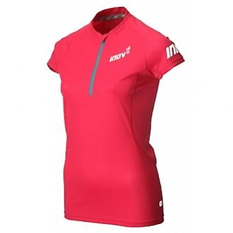 Base Short Sleeve Zip Tee Pink Womens
