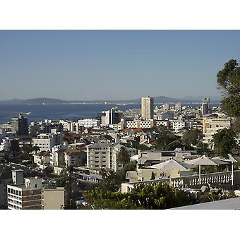 Elevated view of buildings on the coast Bantry Bay Cape Town Western Province South Africa Poster Print