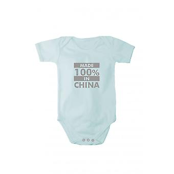 Baby Body mit glänzendem silbernem Druck Made in China