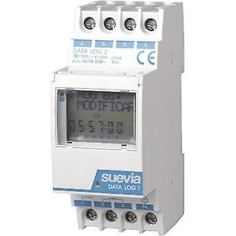DIN rail mount timer digital Suevia Data Log II 230 Vac 16 A/250 V