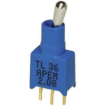 Toggle switch 20 V DC/AC 0.02 A 1 x On/Off/On APEM