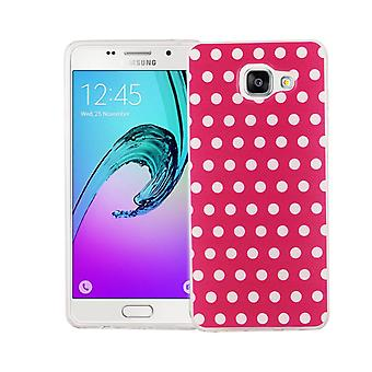 Cell phone case for Samsung Galaxy A5 2016 cover case protective bag motif slim silicone TPU polka dot pink
