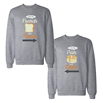 French Toast And Pan Cake Couple Sweatshirts Matching Sweat Shirts