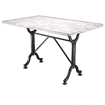 Rempo Large Marble Granite Dining Kitchen Table Cast Iron Legs