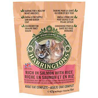 Harringtons komplet kat laks & ris 425g (pakke med 6)