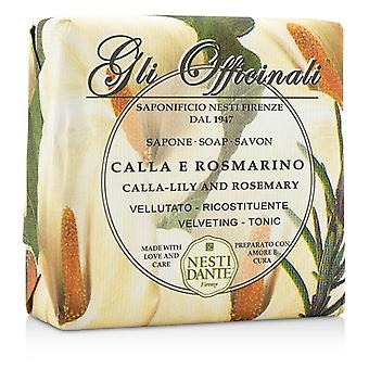 Nesti Dante Gli Officinali savon - Lys Calla & romarin - Velveting & tonique 200g / 7oz