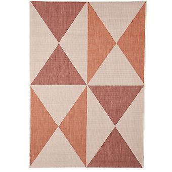 Geometriske rød Rust stue tæppe - Floorit