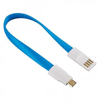 HAMA Cable MicroUSB Blue 0, 2 m Magnet