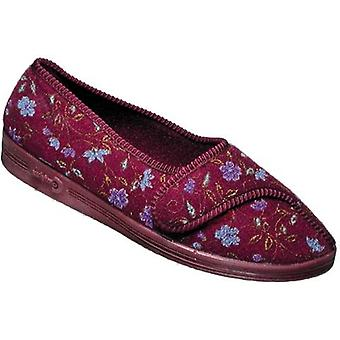 Diana Comfylux Classic Ladies Slippers Flower Textile Womens Flats Footwear Shoe