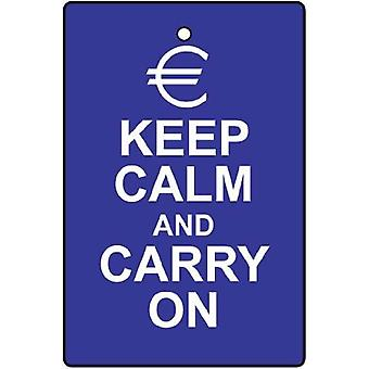 Euro Keep Calm and Carry On Désodorisant