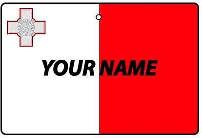 Malta Flag Personalised Car Air Freshener