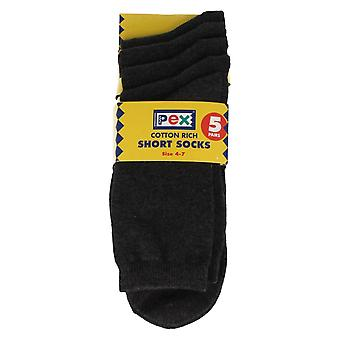 Children's Pex Short Socks 5 Pack
