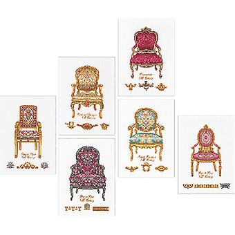 Six Chairs On Aida Counted Cross Stitch Kit-5.5