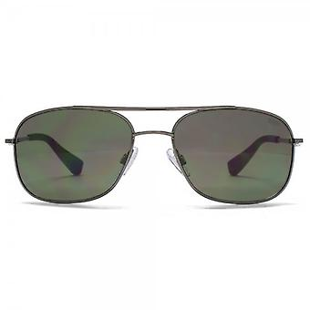 SUUNA Nassau Square Aviator Sunglasses In Gunmetal
