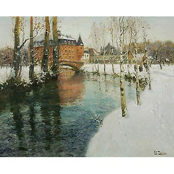 Frits Thaulow - A Chateau in Normandy Poster Print Giclee
