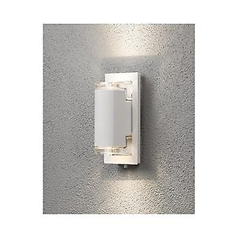 Konstsmide Potenza White Garden Up Down LED Wall Light
