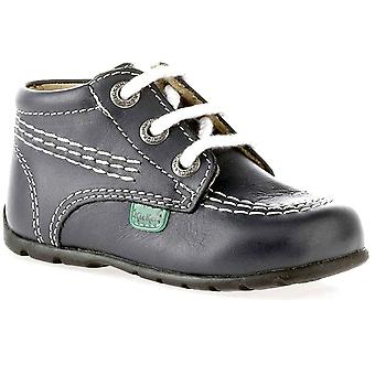 Kickers Baby Chi Navy Leather Boot