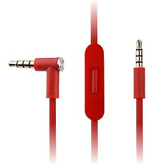 Replacement Red Audio Cable for Beats by Dr Dre Solo2 / Solo2 Wireless Headphones w/ In-Line Remote & Mic - Accessory for iPhone & Android