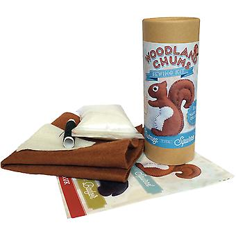 The Crafty Kit Co. Mini Sewing Kit-Nutmeg The Squirrel MK-050