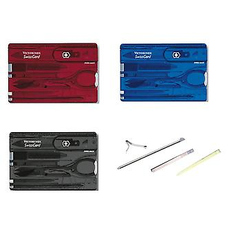Victorinox Swiss Card and spares - Multi Function Swisscard Tool various colours