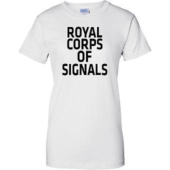 Gelicentieerde MOD - Britse leger Royal Signals - tekst - dames T Shirt