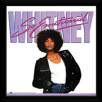 Whitney Houston So Emotional Framed Album Print