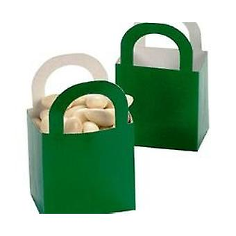 SALE -  6 Green Mini Card Favour Bags | Kids Party Loot Bags