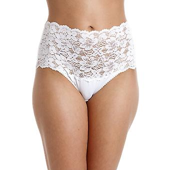 Camille White High Waist Floral Lace Maxi Briefs