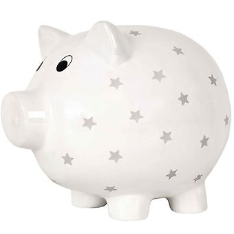 Jabadabado Piggy Bank Pig White