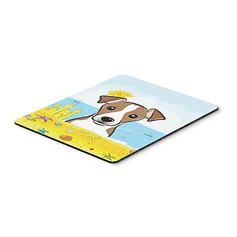 Jack Russell Terrier estate spiaggia Mouse Pad, Pad caldo o sottopentola