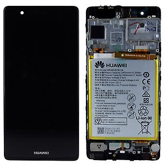 Huawei display LCD unit + frame for P9 02350RPT Service Pack Black
