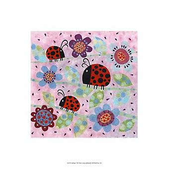 Lady Bugs Poster Print by Kim Conway (13 x 19)