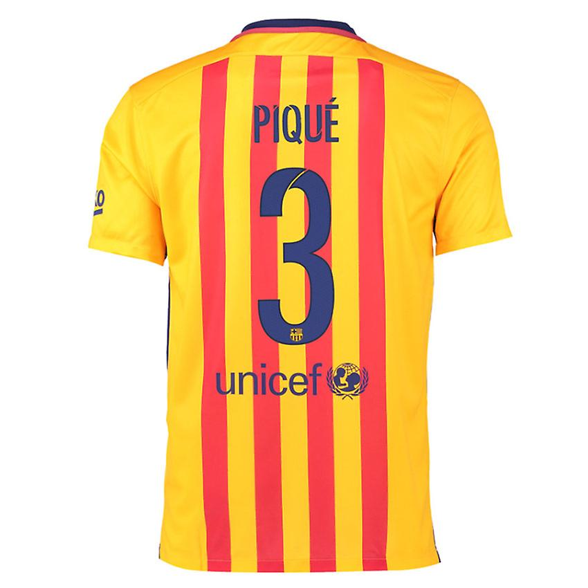 2015-16 Barcelona Away Shirt (Pique 3)
