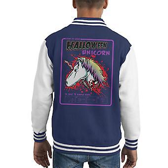 How To Make A Halloween Unicorn Kid's Varsity Jacket