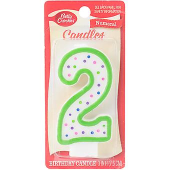 Betty Crocker Numeral Candle-#2 BCCANDLE-20302