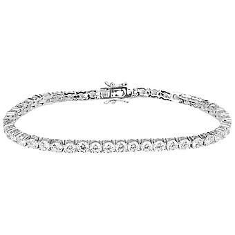 Iced out bling high quality bracelet - silver 1 ROW