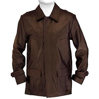 Tavie Mens Leather Coat