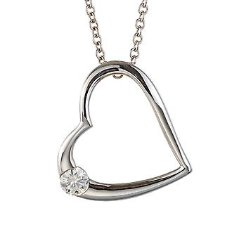 Forever Classic Round 3.25mm Moissanite Heart Fashion Pendant Necklace