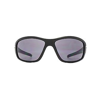 Freedom Polarised Noce Large Duel Injected Wrap Sunglasses In Matte Black Polarised