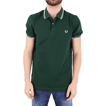 Fred Perry men's FPM360025406 green cotton polo shirt