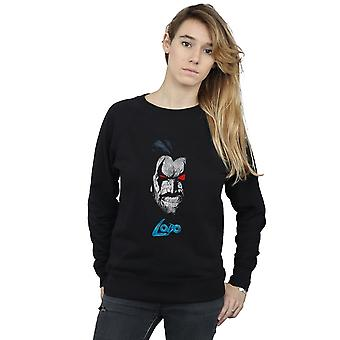DC Comics Women's Lobo Face Sweatshirt