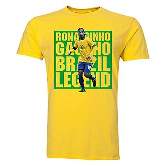 Ronaldinho Brazil Player T-Shirt (Yellow) - Kids