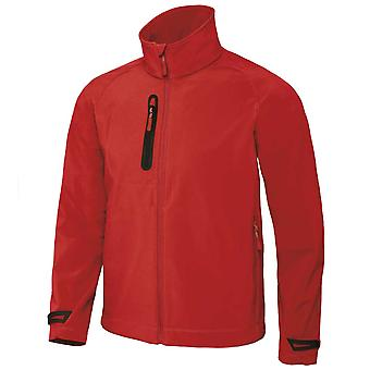 B & C Mens High Performance 3-Lagen-Laminat Softshell Licht Paket Full Zip Jacke