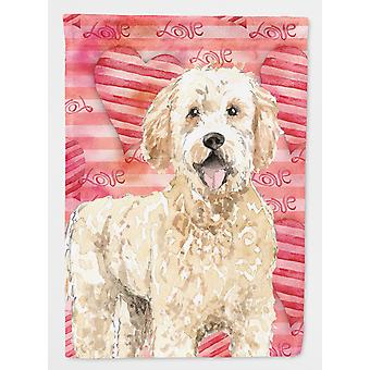 Carolines Treasures  CK1768CHF Love a Goldendoodle Flag Canvas House Size