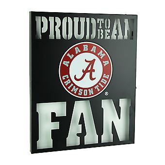 Stolz darauf, ein Alabama Fan Ausschnitt Metallwand Zeichen sein
