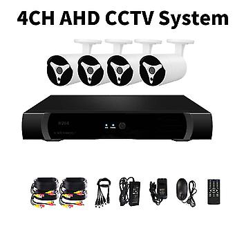 4 Channel AHD DVR System - 4 HD IP67 1080P Cameras, Motion Detection, 30M Night Vision, Remote Monitoring 1TB HDD